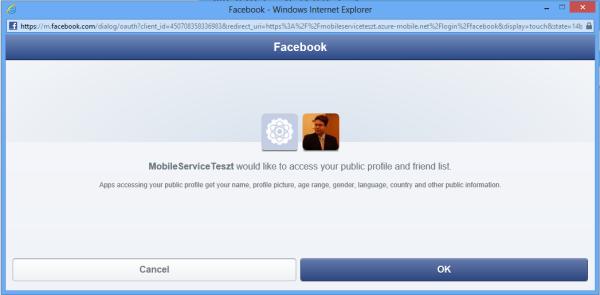 Facebook hitelesítés