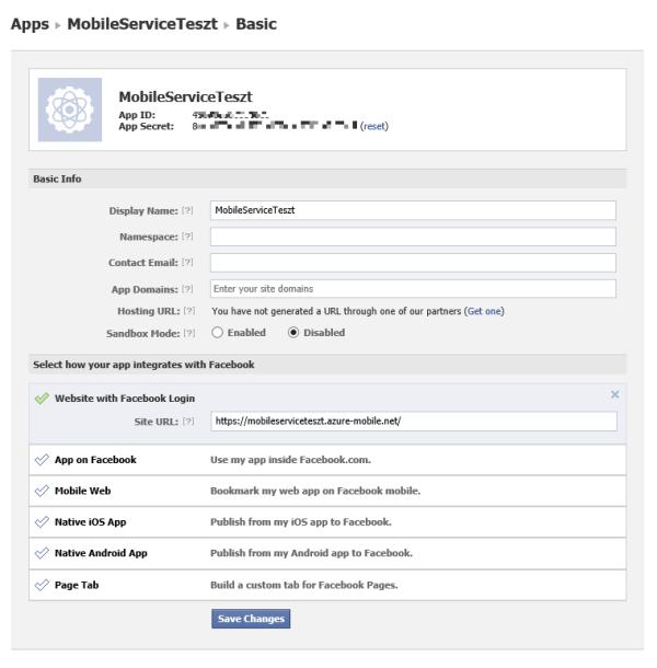 A Facebook alkalmazás beállításai