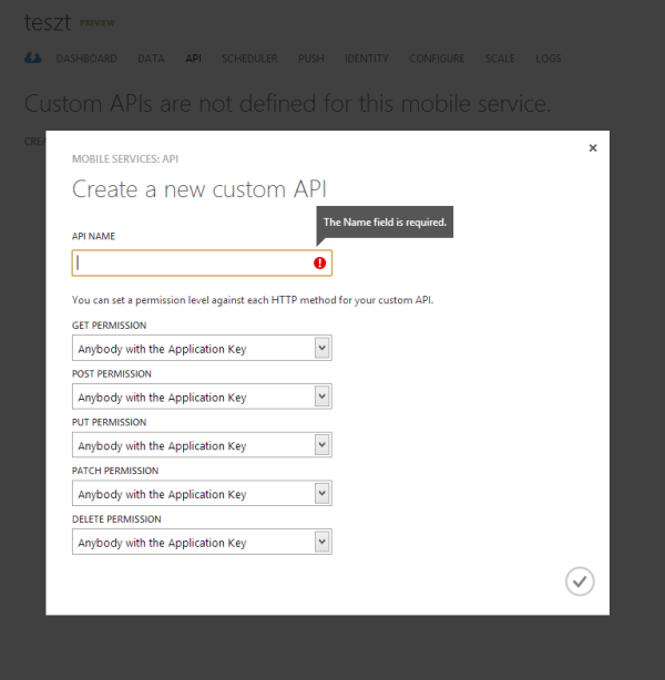Custom API használata